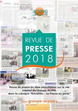 Revue de Presse Groupe ACPPA 2018